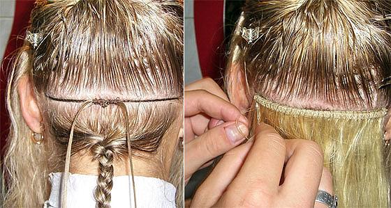 Наращивание волос бусины